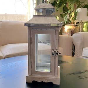 "Ashland 9"" tall galvanized lantern from Michaels"